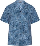 Bottega Veneta Short-sleeved square-print shirt