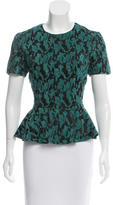 Opening Ceremony Embroidered Peplum Top