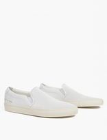Common Projects White Perforated Leather Slip-On Sneakers