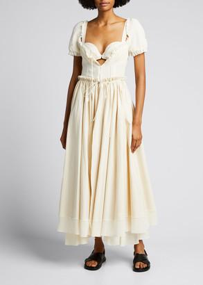 Rosie Assoulin Garten Party Ruffled Maxi Dress