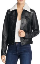 Linea Pelle Leather Bomber Jacket