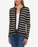Tommy Hilfiger Striped Cardigan, Only at Macy's