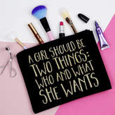 Elsie & Nell 'A Girl Should Be Two Things' Makeup Bag