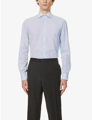 Corneliani Micro dots cotton shirt