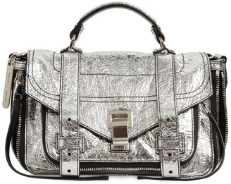 Proenza Schouler Ps1 Tiny Zip Metallic Leather Bag