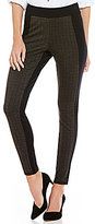 Intro Plaid Front Double Knit Crackle Legging