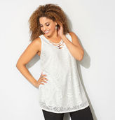 Avenue Lace Criss Cross Yoke Tank
