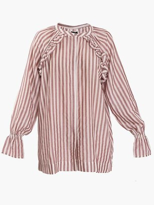 M-Wiesneck - Neolo Long Sleeve Stripe Top Optic White - 34