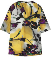 Marni Floral-print Crepe Top - Yellow