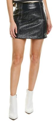 BA&SH Crinkled Wool-Blend Pencil Skirt