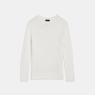 Theory Crewneck Sweater in Linen-Viscose