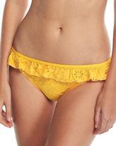 Kate Spade Eyelet Lace Ruffle Classic Bikini Bottom, Yellow