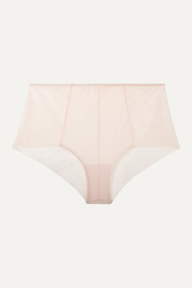 The Great Canova Stretch-tulle Briefs - Pastel pink