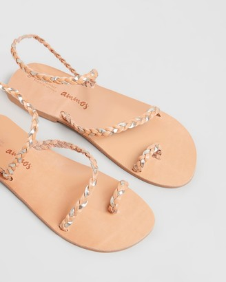Ammos - Women's Neutrals Flat Sandals - Clio Sandals - Size One Size, 40 at The Iconic