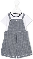 Armani Junior checked dungarees - kids - Cotton - 6 mth
