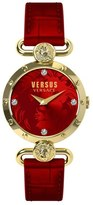 Versus By Versace 'Sunnyridge' Leather Strap Watch, 34mm