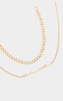 PrettyLittleThing Gold Layering Necklace
