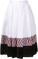 Jupe By Jackie - panelled midi skirt - women - Cotton - XS