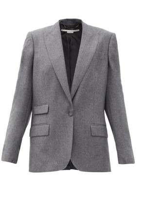 Stella McCartney Bell Single-breasted Wool-flannel Jacket - Grey
