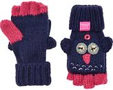 Joules Little Joule Children's Owl Mittens, Navy