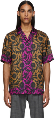 Dries Van Noten Tan Viscose Short Sleeve Shirt