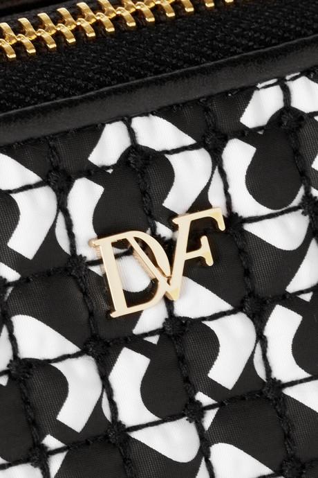 Diane von Furstenberg Printed quilted cosmetics case