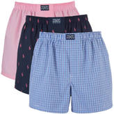 Polo Ralph Lauren Men's 3 Pack Boxer Shorts Pink/Navy