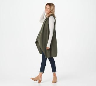 Soft by NAADAM 100% Cashmere Cascade Front Long Vest