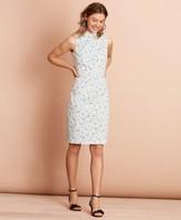 Brooks Brothers Floral-Print Stretch Cotton Sateen Sheath Dress
