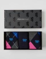 Pringle Black Socks 3 Pack Gift Box