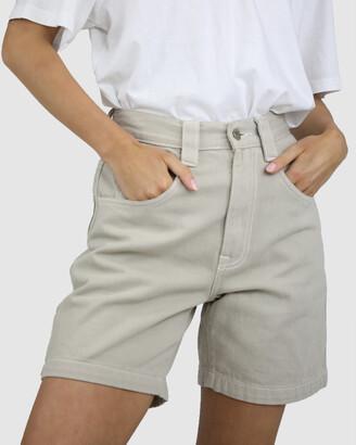 Dakota501 - Women's White Cargo - Carpenter Shorts - Size One Size, 6 at The Iconic