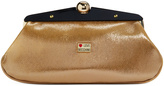 Love Moschino Accessories Gold Frame of Mind Clutch
