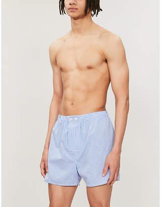 Derek Rose Gingham-checked boxer shorts