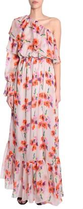 MSGM Long One Shoudler Dress