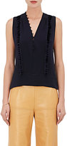 Derek Lam Women's Tassel-Trimmed Washed Silk Blouse