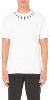 Neil Barrett Lightning-print cotton-jersey t-shirt