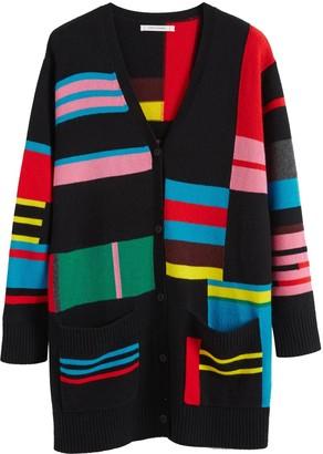 Parker Chinti & Multicolour Eccentric Wool-cashmere Cardigan