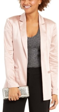 INC International Concepts Inc Satin Open-Front Blazer, Created for Macy's