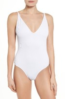 Topshop Women's Plunge One-Piece Swimsuit