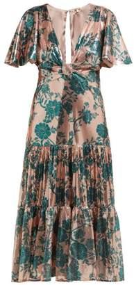 Johanna Ortiz Modern-day Muse Sequinned Midi Dress - Womens - Green Multi