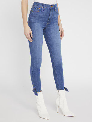 Alice + Olivia Good High Rise Ankle Tie Jean