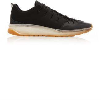 Bottega Veneta Knit and Leather Lace-Up Sneakers