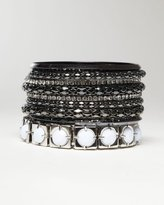 Crystal & Metallic Mixed Bangle Set