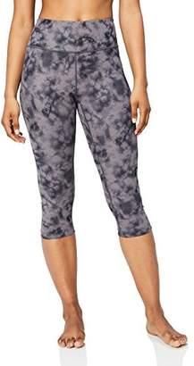 Core 10 Spectrum High Waist Capri Legging-21 Yoga Pants, White/Navy Tie Dye Plus, (18W-20W)