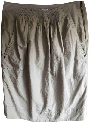 Brunello Cucinelli Grey Cotton Skirt for Women