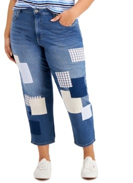 Style&Co. Style & Co Plus Size Patchwork Jeans, Created for Macy's