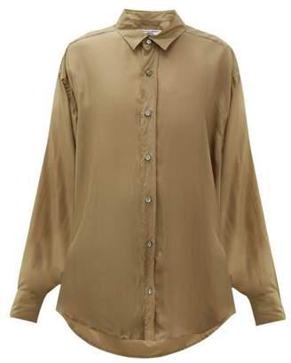 Katharine Hamnett Nicola Silk Satin Shirt - Womens - Khaki