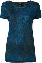Avant Toi Liv glittery T-shirt - women - Linen/Flax/Aluminium - XS