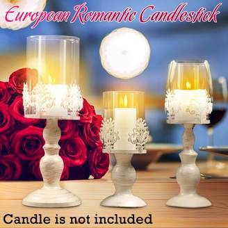 Nordic Kadell Glass Lantern Cover Candle Holder Wedding Centerpieces Home Table Decoration Style Candlesticks Candle Stand