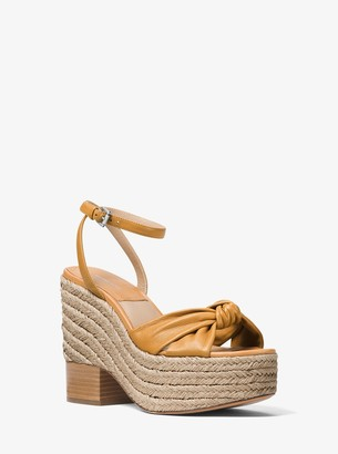 Michael Kors Silvana Leather Platform Sandal
